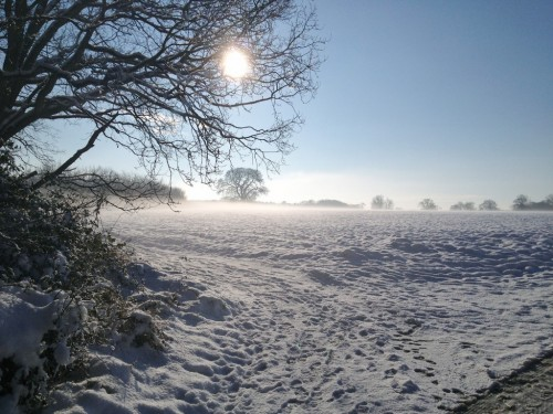 Snow and sunshine in north Norfolk