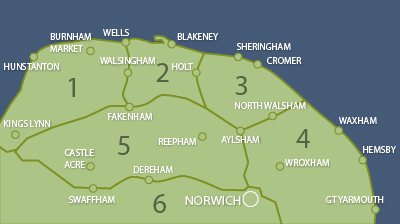 North Norfolk map