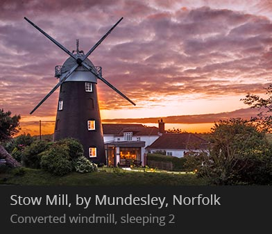 Stow Mill, Mundesley, Norfolk - Converted windmill holiday cottage, sleeps 2